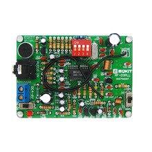 LEORY 1pc dwukanałowy moduł MP3 bezprzewodowy nadajnik mikrofonu moduł nadajnika FM Radio Stereo płytka drukowana zestaw części DIY