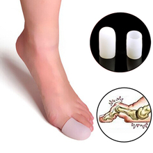 2 Pcs Silicone Gel Toe tube Corns Blisters Protector Gel Bun