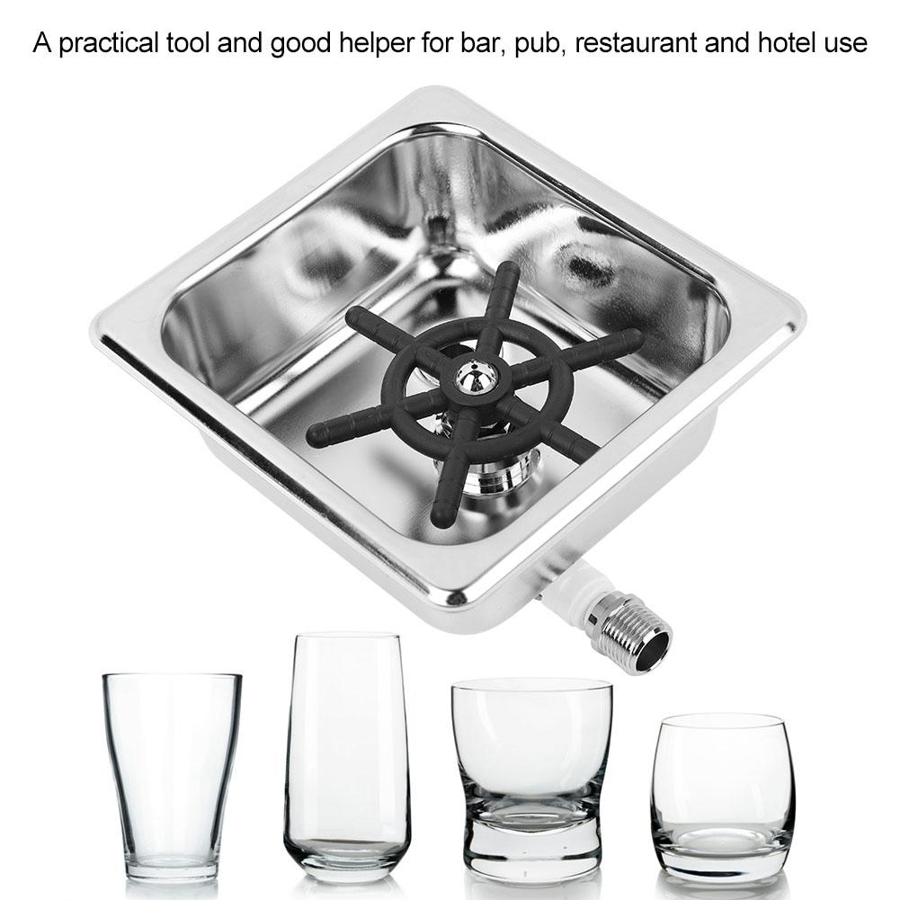 Automatic Stainless Steel Cup Washer Cleaner Glass Rinser for Hotel Bar Coffee Milk Tea Cup-in Coffeeware Sets from Home & Garden    1