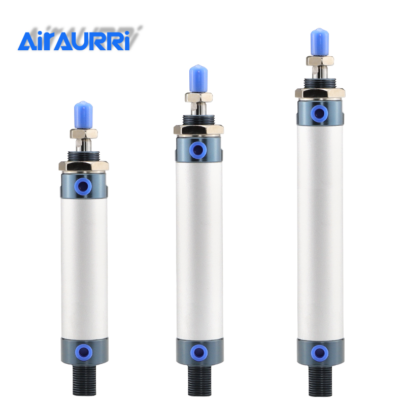 MAL Series Mini Pneumatic Cylinder 16/20/25/32mm Bore 25-300mm Stroke Double Acting  Airtac Type