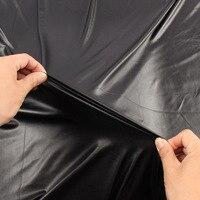 Высокая эластичная черная искусственная кожа pu ткань материал для одежды шорты трикотажные спандекс подкладка