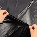 High Stretch Elastic Black Faux Leather PU fabric material for clothes shorts Knit spandex backing