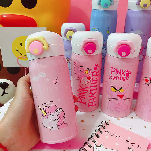 17Off Unicorn 350~500ml Animals Stainless Steel Portable Figure Pink Printed Water Us11 Panther Cartoon Action Horse Mug Bottle Thermos In 17 Cup bfg7y6