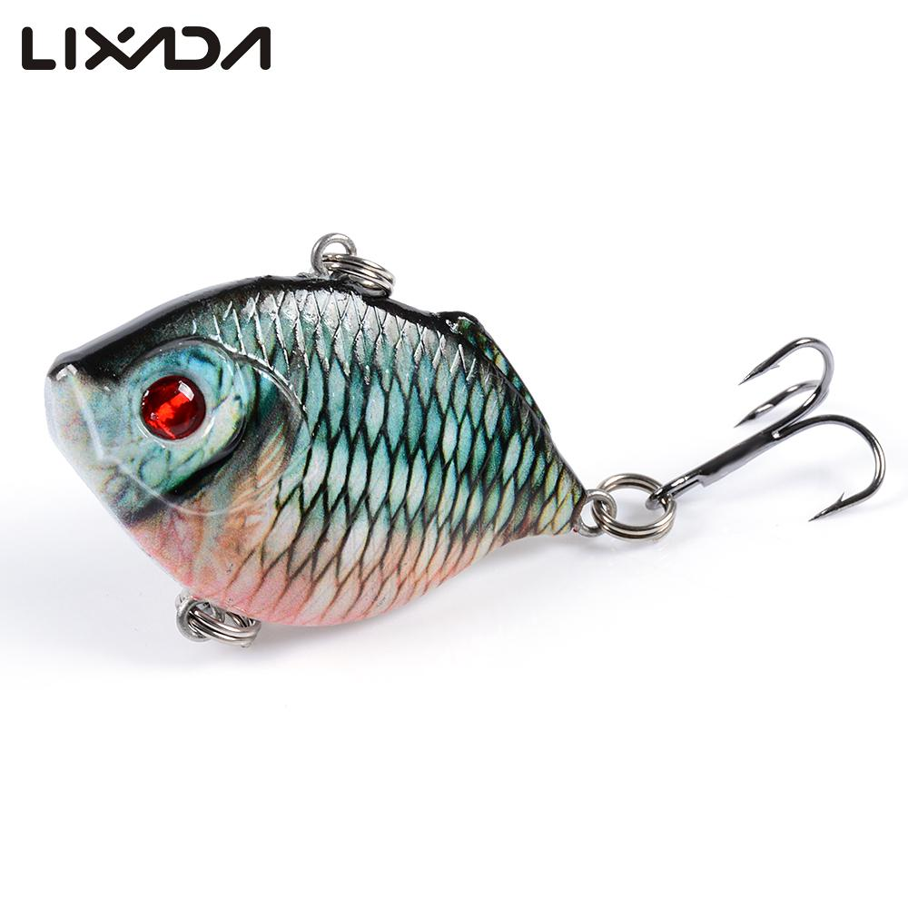 Lixada 4.5cm 8.8g Mini VIB Fishing Lures 2019 New  with Treble Hooks 3D Eyes Lifelike Fat  Artificial Hard  Lure for Pesca