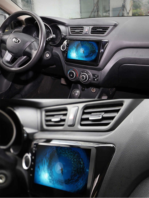 2Din 9 Cal Android7.1 Radio samochodowe multimedialny odtwarzacz wideo nawigacja GPS dla KIA K2 RIO3 akcesoria Sedan Hatchback 2011-2016Auto
