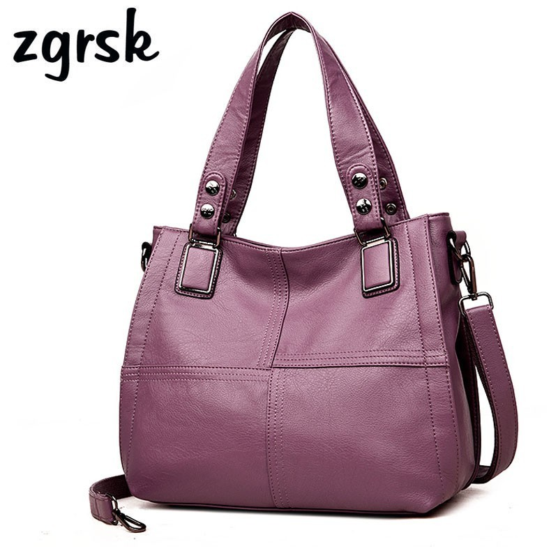 Luxury Handbags Brand Women Leather Handbag Casual Tote Womens Bags Designer Soft Sheepskin Female Big Shoulder Bag Crossbody
