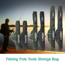 Lixada 100cm/130cm/150cm Fishing Bag Portable Folding Fishing Rod Reel Bag Pole Gear Tackle Tool Case Carrier Travel Storage(China)