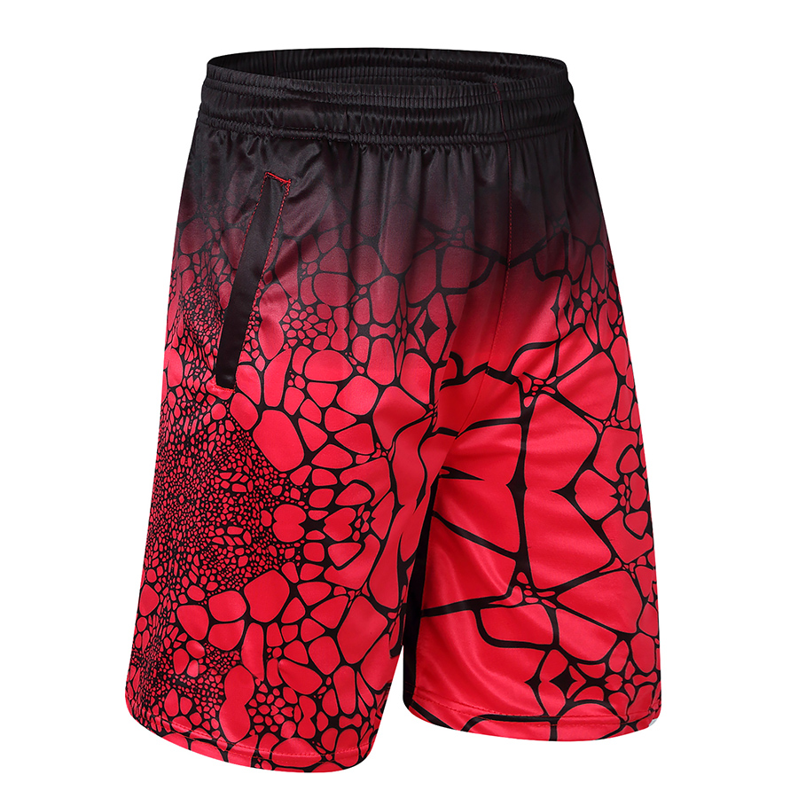 High Quality 2019 Men Casual Shorts Polyester Digital Print Man Bermuda With Zipper Pocket Knee Length Trousers Male