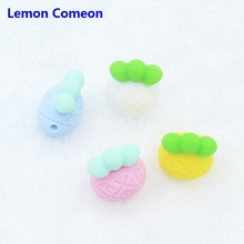 hot deal buy 50pcs mini silicone pineapple beads baby teething food grade beads diy jewelry nurse beads baby teethers
