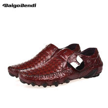 Hight End Woven Leather Men Loafer Moccasins Business Man Slip On Octopus Full Grain Driving Car Shoes Trendy