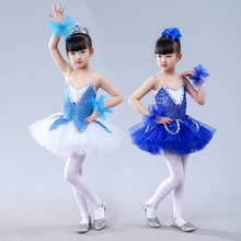 Girls Jazz Dance Latin Dance Ballet Skirt Little Swan Sequin Girls Performing Group Soft Skirt Costumes dora the explorer little girls ballet dance pajama set