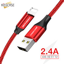 KISSCASE Cable For iPhone X XR XS Max Wire For Charger USB Data Cable For iPhone 6 6S 7 8 5S Charging Phone Cables Cord Adapter(China)