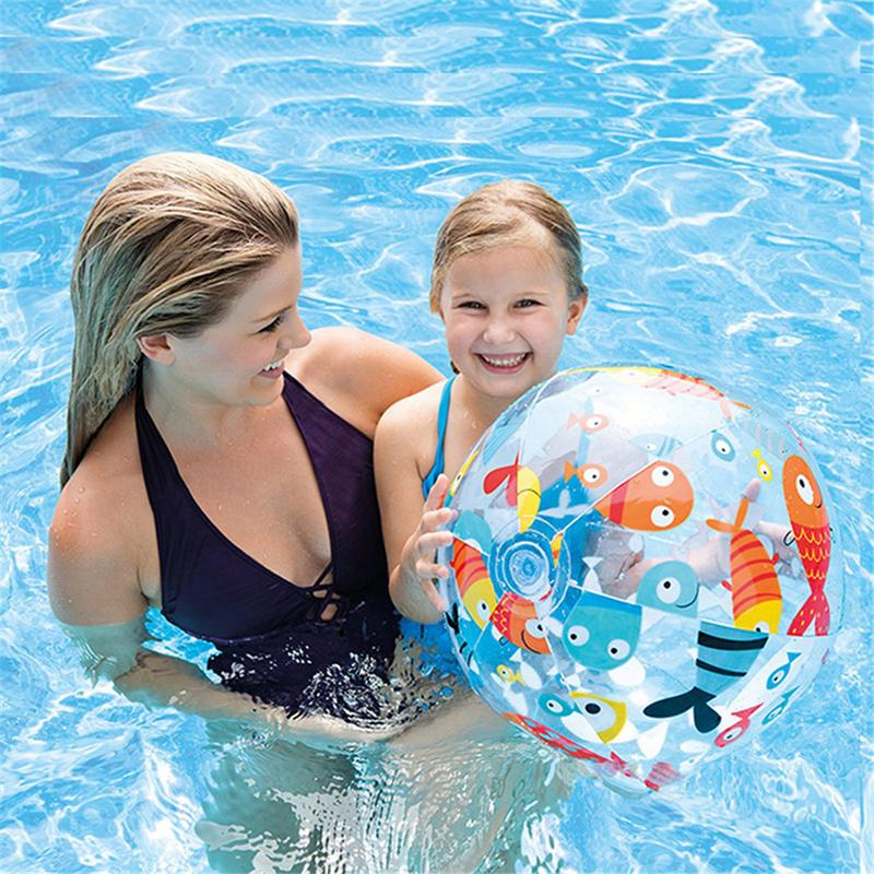 Children Water Ball Outdoor Swimming Toy PVC Inflatable Beach Elastic Float Ball Parent Child Interactive Inflatable Water Ball