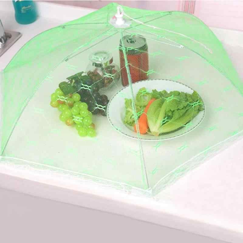 40 см Анти мухи комары чистая еда крышка газовый зонтик Пикник кухня тент для накрывания пищи еда покрытие стола колпак из сетки для еды кухонные инструменты