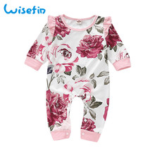 Wisefin Newborn Clothes Spring Autumn Baby Romper For Girl Cotton Suit Body Jumpsuit Fashion Rompers 2019 Long Sleeve
