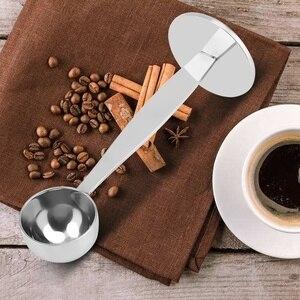 Image 5 - Cuchara en polvo de café Espresso de doble uso, herramienta medidora de café, accesorios de café de acero inoxidable