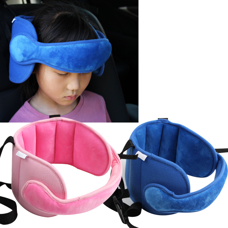 Child Car Safety Seat Head Fixing Auxiliary Cotton Belt Infants Children Sleeping Fixing Bent Head Security Protector For Kids