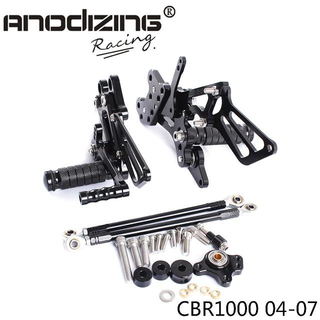 Full CNC Aluminum Motorcycle Adjustable Rearsets Rear Sets