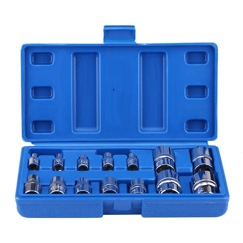 14Pcs E-Type Torx Star Bit Socket Set E4-E24 1/4