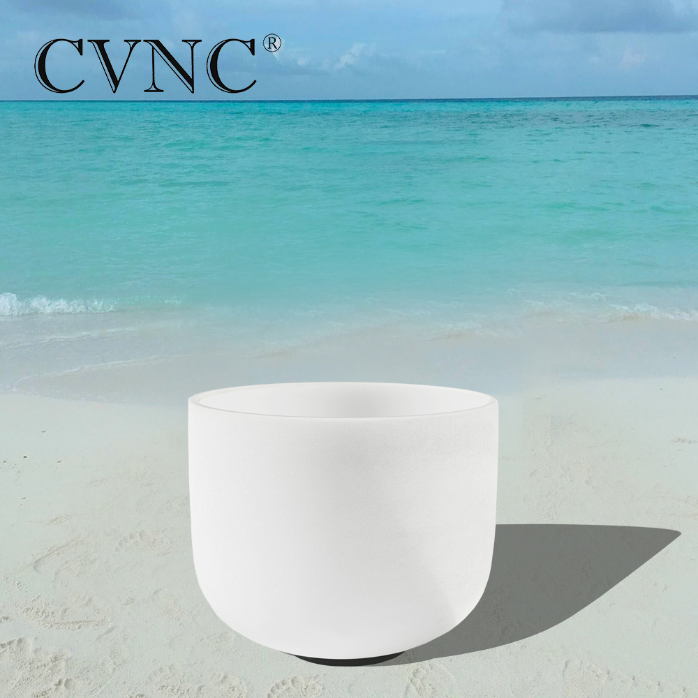 CVNC 10 Note CDEFGAB Frosted Quartz Crystal Singing BowlCVNC 10 Note CDEFGAB Frosted Quartz Crystal Singing Bowl
