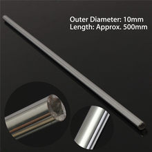 1Pcs OD 10mm x 500mm Round Steel Rod Bar Cylinder Linear Rail Linear Shaft Optical-Axis Chroming GCr15(China)