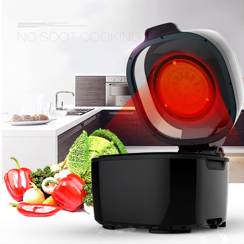 ITOP 10L Commercial Air Fryer Smoke-Free Electric Fryer Air Fryer Multi-Functional Oven NO Smoke Less Oil Fryer Fries Machine