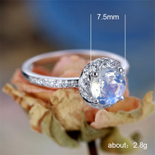 Silver 925 ring gold Emerald diamond rings Full opal mens accessories Rose crystal Valentines Day Indian B2312