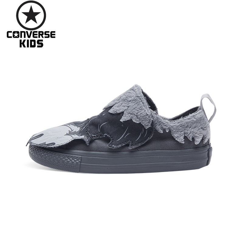 CONVERSE Cartoon Children's Shoes Low Help Magic Subsidies Non slip Male Baby Canvas Shoes #759948C S