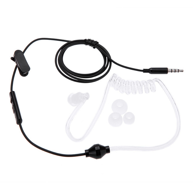 da40c5d1591 high quality Acoustic Radiation Free Headphone Spiral Transparent Air Tube  Earphone Hook With Mic Control Handsfree Stylish Hot