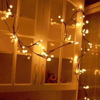 2.5m 72 LED Christmas Tree Branch String Light Garlands Waterproof Garden Party Decoration Holiday Lighting Outdoor Home Bedroom