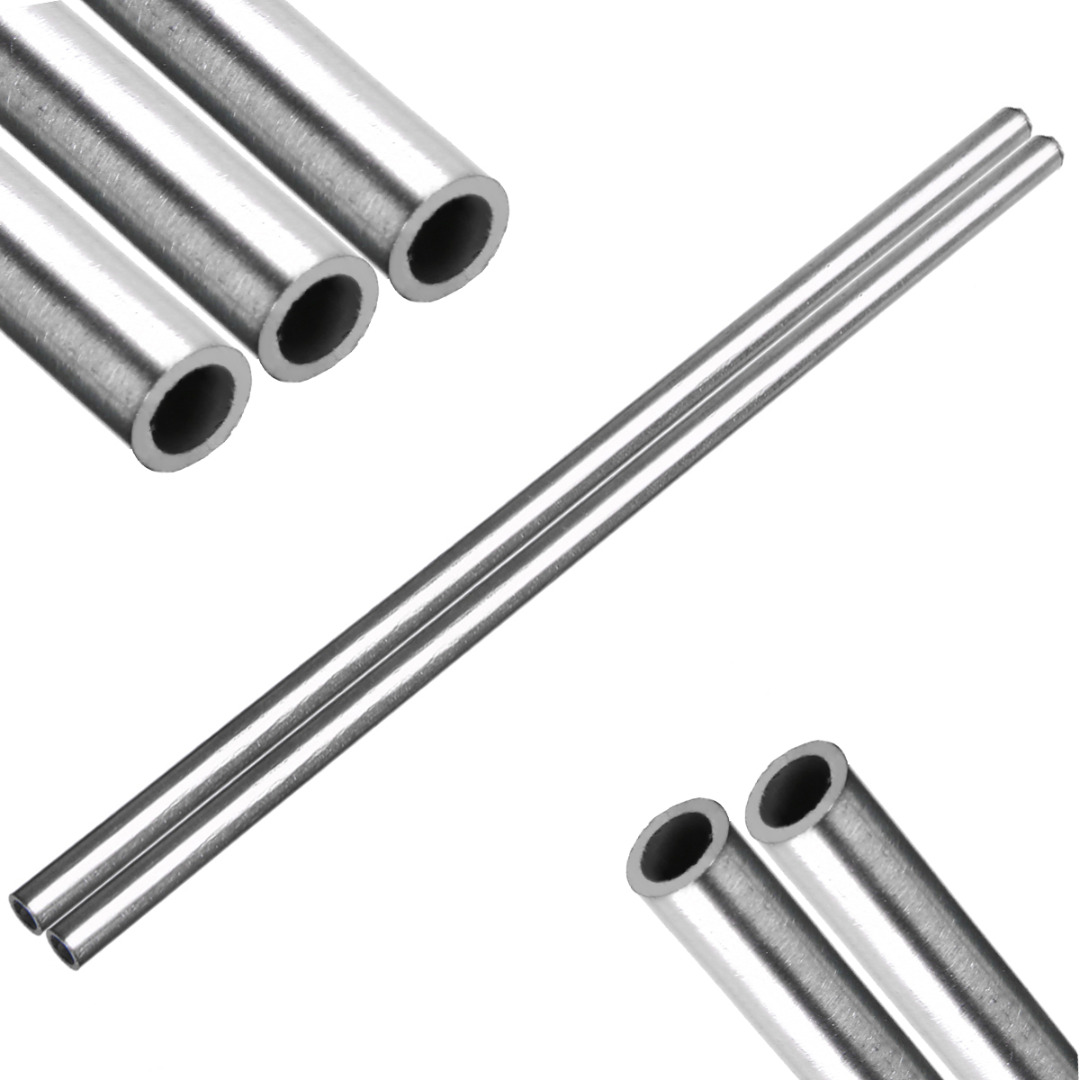 Length 250mm Metal Parts S6 304 Stainless Steel Capillary Tube OD 8mm x 6mm ID