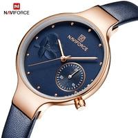 NAVIFORCE Fashion Women Bracelet Watches Top Brand Luxury Ladies Quartz Rose Gold Wristwatches Clock For Lovers Relogio Feminino
