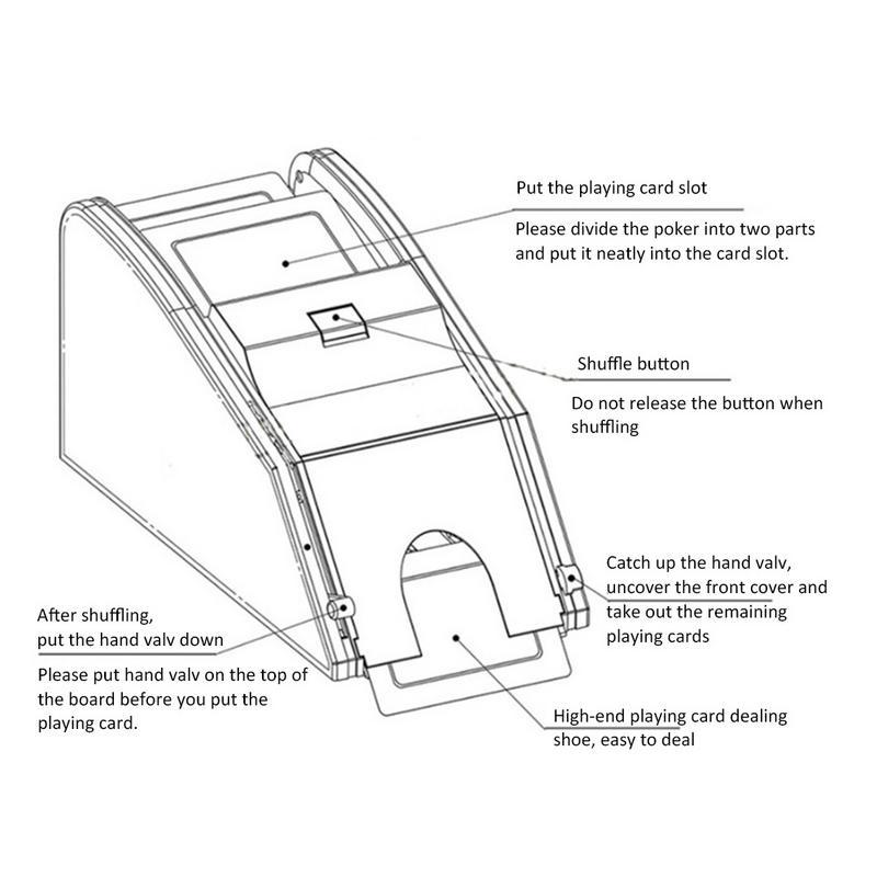 Automatique carte Shuffler électronique professionnel carte Shuffler 2 en 1 Shuffle Deal Machine à piles - 6
