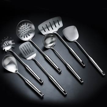 Dinnerware Sets7pcs/set Sus 304 Cooking Tool Sets Kitchen Utensils Truner Ladle Stainless Steel Non-stick Temperature Resistance