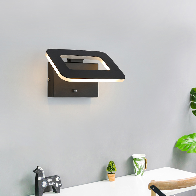 DAR Three-color Dimming Wall lights For Home Deco Bedroom Bedside Light Modern Led Wall Lamp Fixtures Applique Murale Luminaire