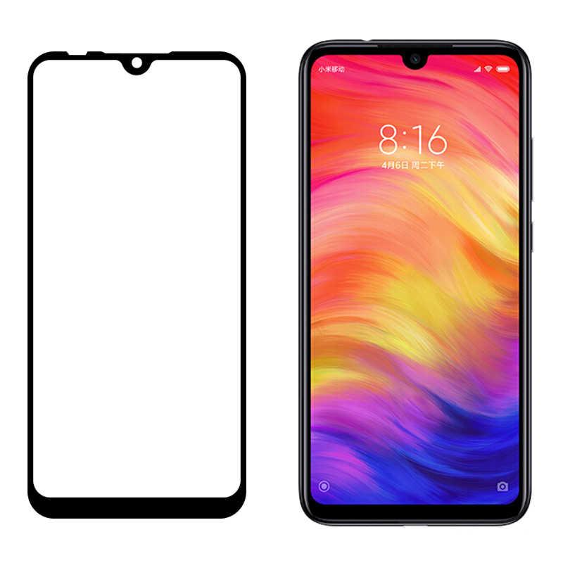 フル接着剤強化 Xiaomi Redmi 注 7 注 5 フルカバー 9 H 保護フィルムスクリーンプロテクター redmi Note7 Note6 プロ