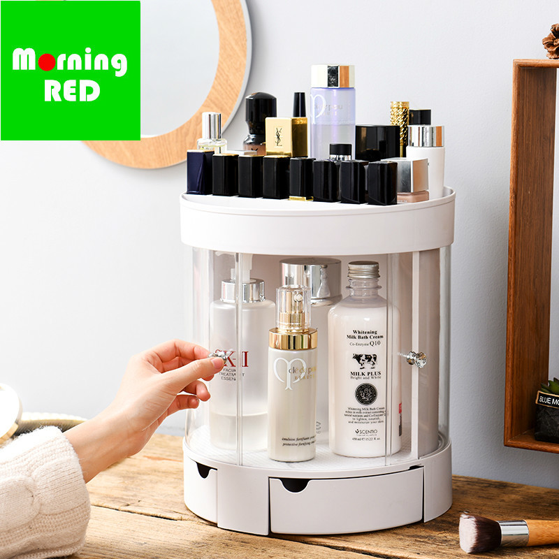 New Sliding Door Type European Transparent Cosmetic Storage Box Dressing Table Lipstick Skin Care Products Plastic