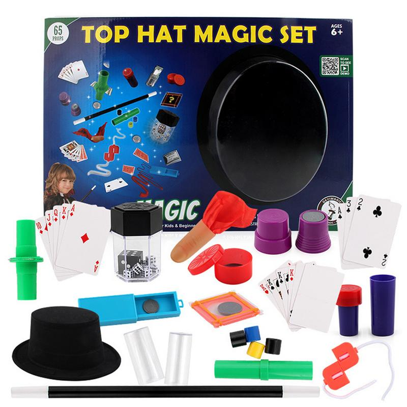 Magicians Hat Magic Set 150 Tricks Kids Children Play Toys Game Illusions Children's Close-up Magic Toy Gift Box For Children