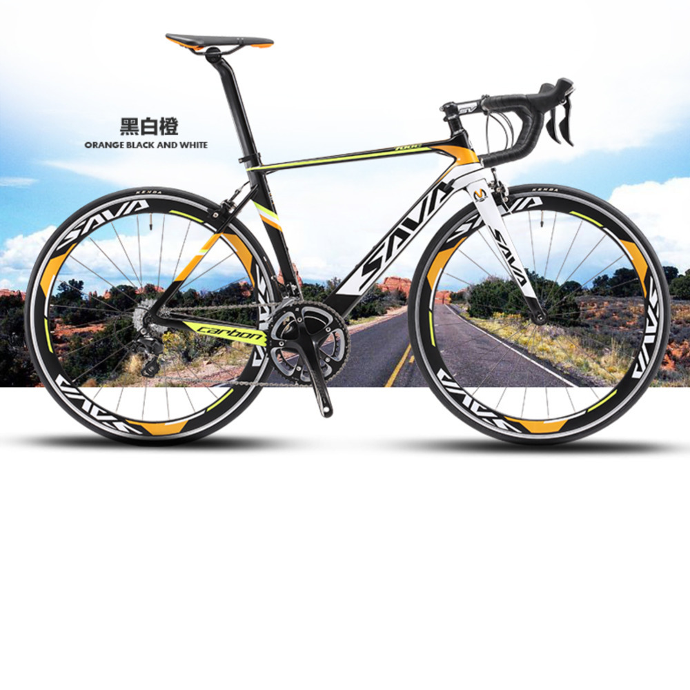 Vélo de route Original en fiber de carbone de marque x-front 18 20 22 vitesses 700cc * 23c Racing Bicicleta vélo jaune noir clair