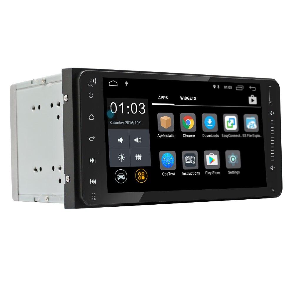 Nouveauté-Android 6.0 2Din autoradio 7 pouces capacitif écran de presse haute définition Gps Navigation Bluetooth pour Toyota Old
