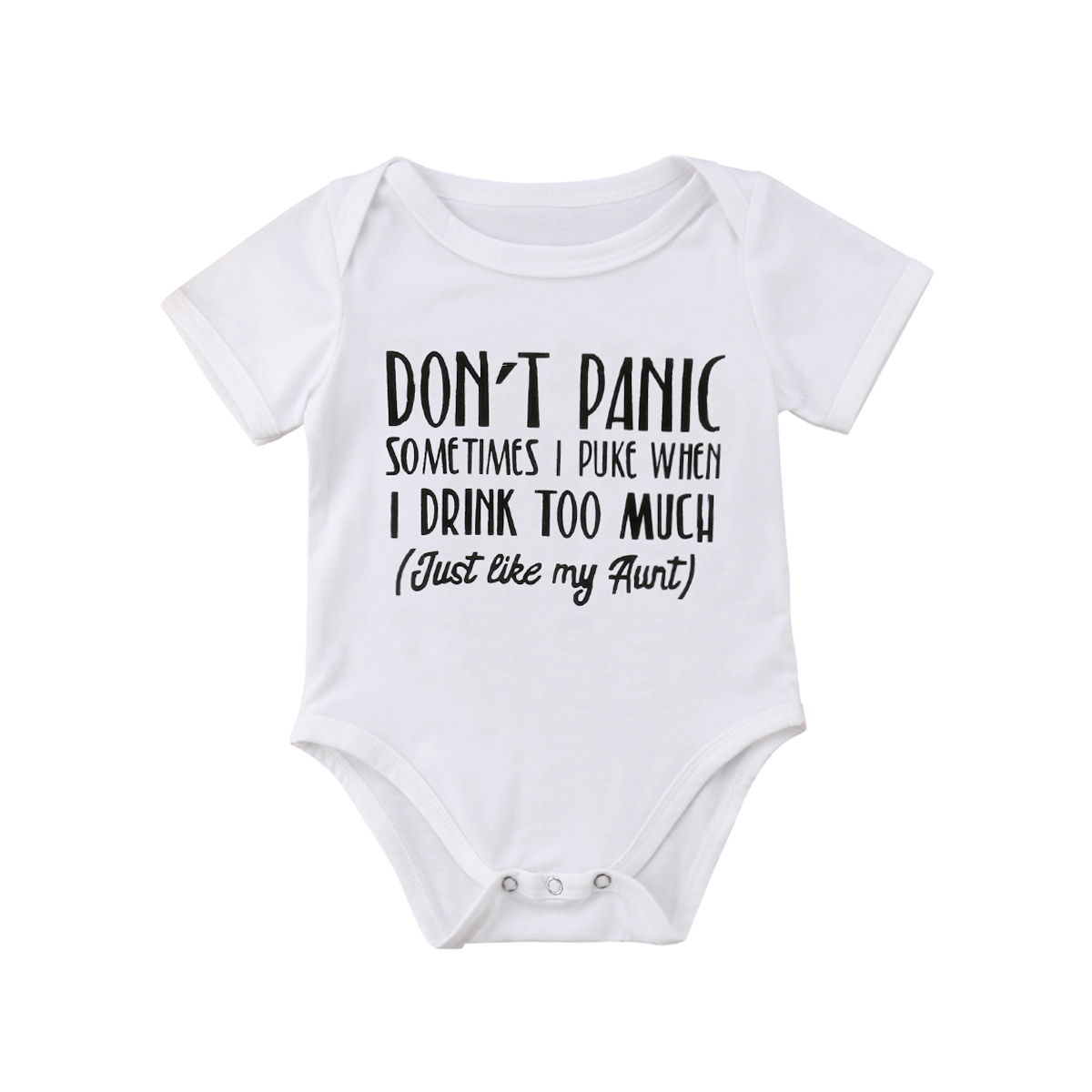 Newborn Infant Baby Boys Girls Funny Letter Cotton   Romper   Jumpsuit Clothes Outfits