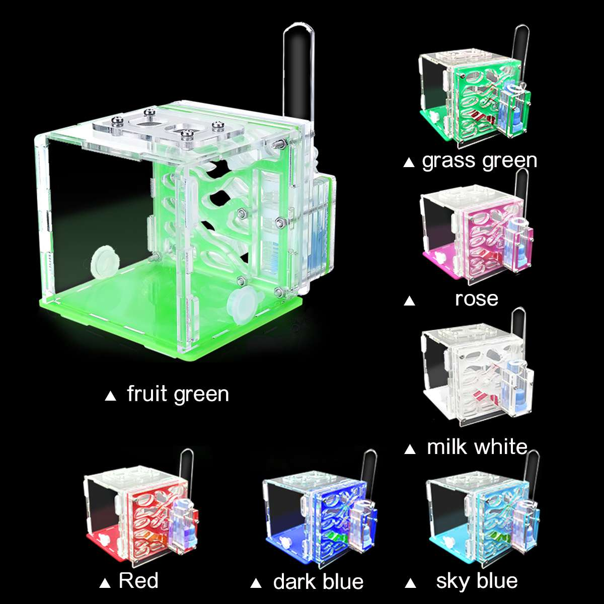 Nests House Ants Ant-Farm Pet Villa Feeding-Area Acrylic With Insect For 95--97--86mm