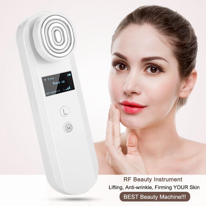 Portable Multifunctional RF Therapy Devices EMS Face Skin Care Sonic Lifting Tighten Rejuvenation Face Massager Beauty