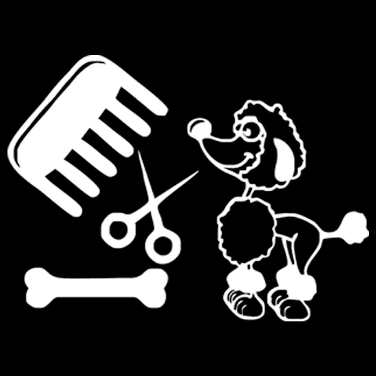 I LOVE MY POODLE VINYL DECAL CAR LAPTOP WALL CHOOSE COLOR SIZE