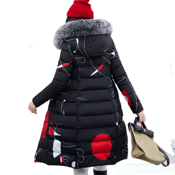 Women Winter Thick Coat Both Two Sides Can Be Wear Big Fur Collar Hooded Outerwear Warm Down Cotton Jacket Female Parkas PJ77