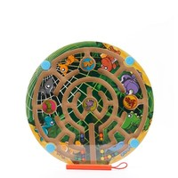 Wooden Toys Magnetic Maze Board Early Childhood Educational Toys Maze Game P Small Pen Labyrinth