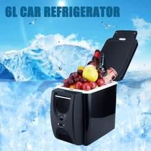 12 v geladeira freezer aquecedor 6l mini carro refrigerador & aquecedor, geladeira elétrica portátil geladeira viagem geladeira