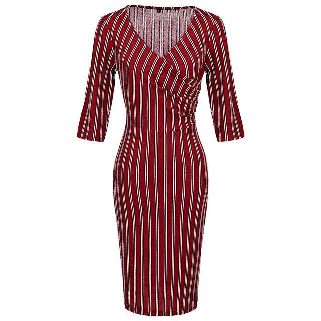 Precio bajo Vestido de tubo oficina marca para mujer vestido