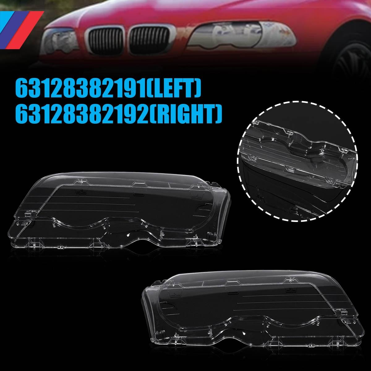 1 paire de phare de voiture clair lentille phare clair couverture Coupe Convertible pour BMW E46 2DR 1999-2003 M3 2001-20061 paire de phare de voiture clair lentille phare clair couverture Coupe Convertible pour BMW E46 2DR 1999-2003 M3 2001-2006