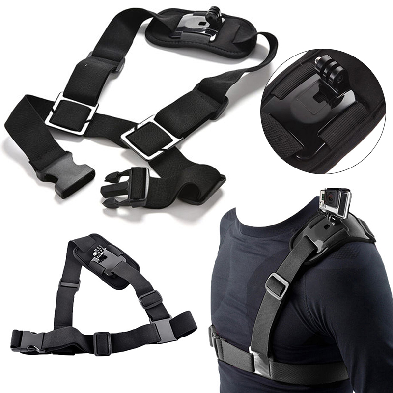 Sports Action Cameras Accessories Adjustable Shoulder Chest Strap Mount Harness Belt for GoPro Hero 3+ 4 Camera